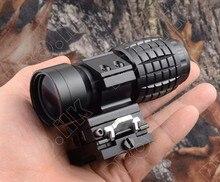 Tactical 3x Lente di Ingrandimento con Vibrazione Picatinny Rail Mout Fit Olografica Aimpoint Red Dot Sight Rifle Scope M7600 Fucile Piramide