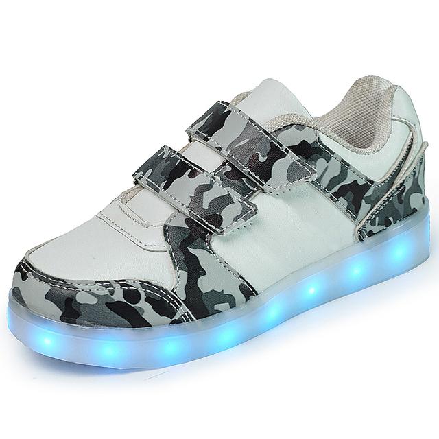 Boy casual shoes crianças luminosos shoes iluminado glowing caçoa as sapatilhas tênis tenis levou infantil crianças de néon usb meninas levaram