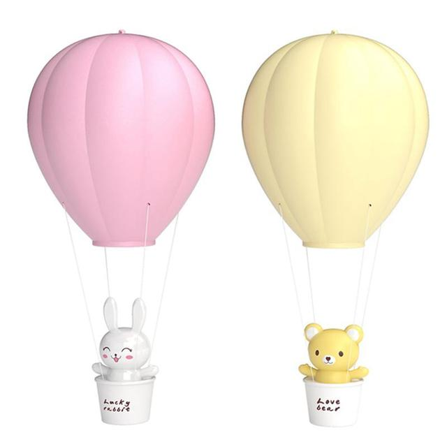 Dimmable Hot Air Balloon With Led Night Light Remote Control Children Baby Nursery Wall Lamp Balloons
