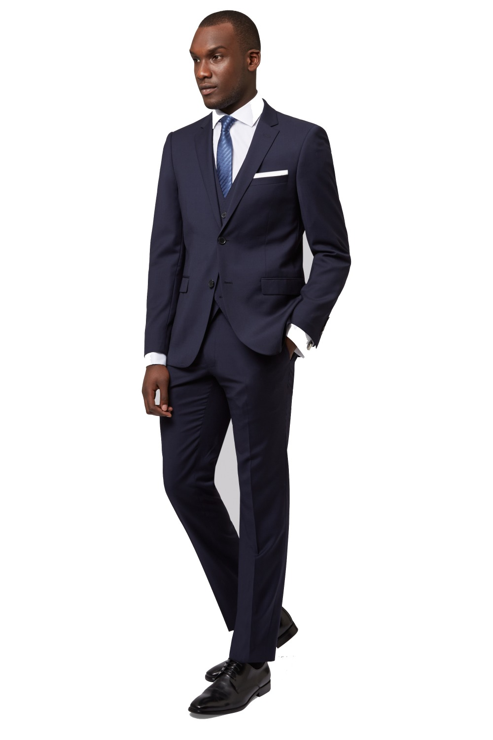 New arriving custom made slim fit midnight blue with 2 button notch lapel men suit slim fit