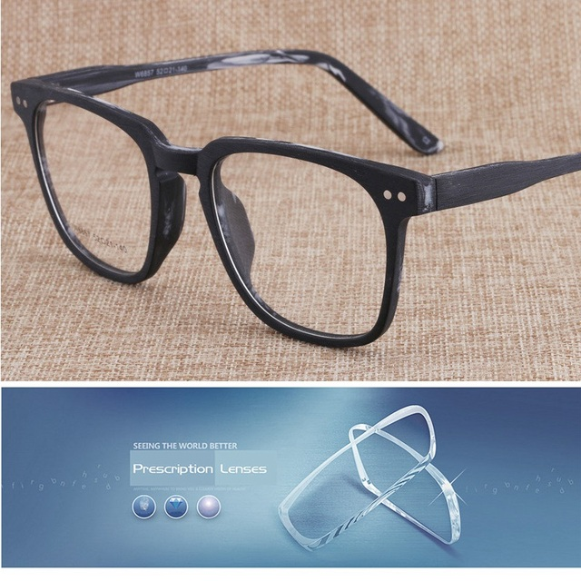 fd2128868e8 Acetate Glasses Men Women Custom Optical Prescription 1.56 1.61 1.67 Index  Resin Lens transition resin Spectacles Vintage Male