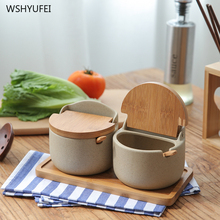 Ceramics-Jar Slime-Containers Kitchen Cover with Lid Combination-Set Stuff Japanese-Style