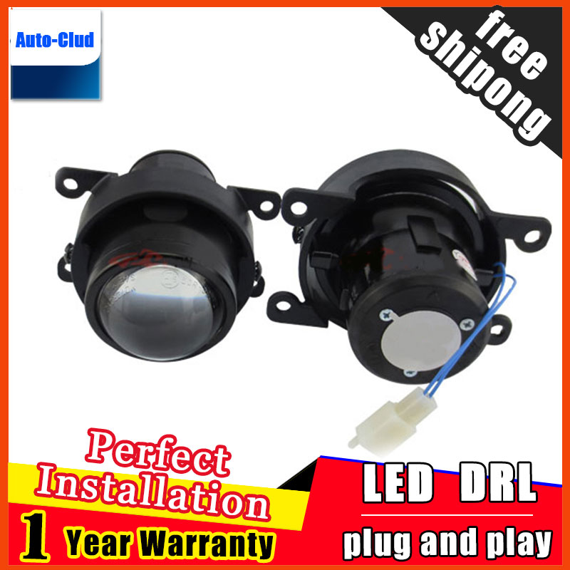 Car Styling HID Double light lens fog lamp for Peugeo 4007 2007-2012 Authentication for foglight 2 function