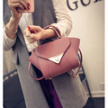 New Litchi Grain Womans Big Ears Small Lock Trapeze Handbag OL Cross-body Messenger Shoulder Bag Mini Totes