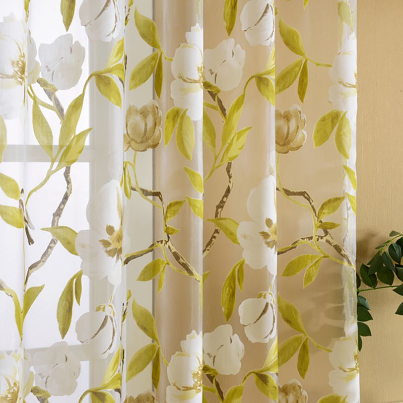 Yellow Big Floral Tulle Curtains For Living Room Translucent Bedroom Kitchen  Curtains Tulle Window Blinds  In Curtains From Home U0026 Garden On  Aliexpress.com ...