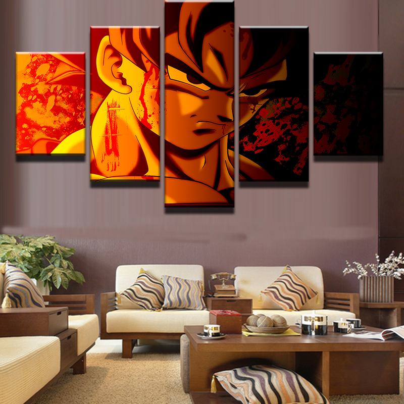 decoration pieces for living room 5 pieces balls painting canvas wall picture 19507