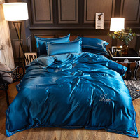 soft Washed cotton Silk Tencel Ice satin silk bedding sets bedclothe Quilt/duvet cover flat sheet pillowcases Queen/King bed set