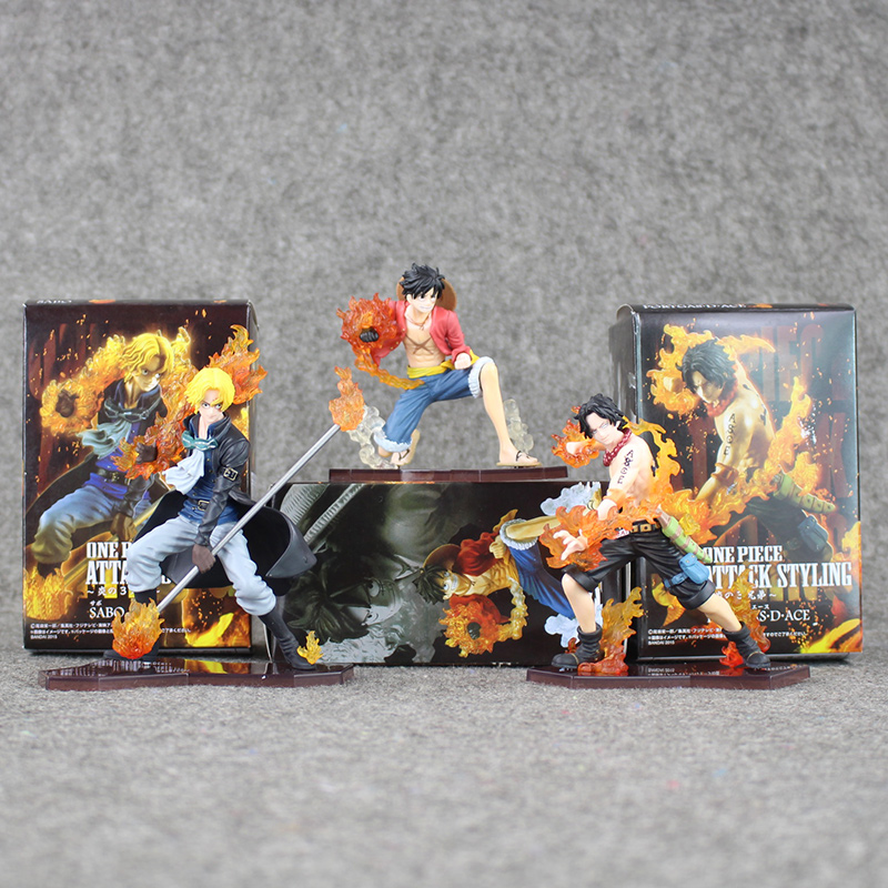9-14cm 3Pcs/Lot New Hot Japan Anime One Piece DXF Luffy Ace Sabo PVC Action Figures Collectible Model Toys For Kids modern luxury imitation leather wallpaper roll for walls living room bedroom tv background wall paper mural papel de parede 3d