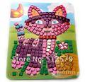 Eva Мозаика Sticky Комплект Головоломки для Детей Обучающие Цветные Наклейки Девочка Или Мальчик Ручной Работы DIY Игрушка