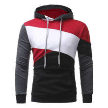 Patchwork Hoodies Men 2019 Streetwear Fashion Casual High Quality Cotton Slim Pollover Sweatshirt Hooded Hoodie