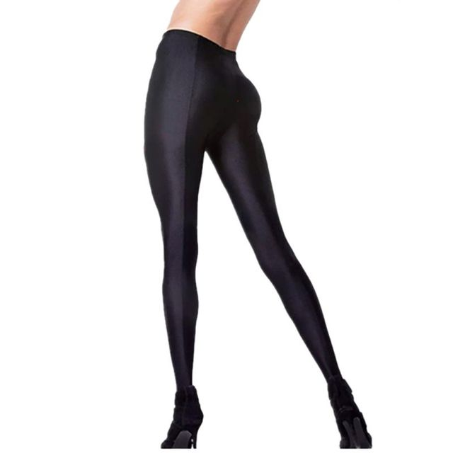 e0fbe98d41982 High Quality Women Sexy Shiny Lustrous Black Leggings Pants Shaping Pants  Leggings Chinlon High Elastic Leggings