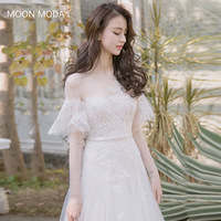 Beach Long Sleeve Wedding Dress 2018 Plus Size Mariage Princess Simple A Line Sexy White Luxury