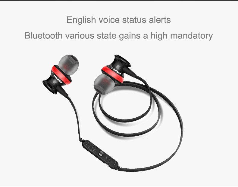 Awei A990BL Wireless Bluetooth stereo music earhud sports running earphone Handsfree headset fone de ouvido with Microphone 4