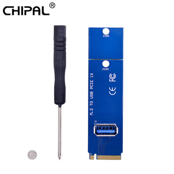 CHIPAL 2018 Hot NGFF M.2 to USB 3.0 Card Adapter M2 M Key to USB3.0 Card for PCIe PCI-E Riser Card for Litecoin Bitcoin Miner
