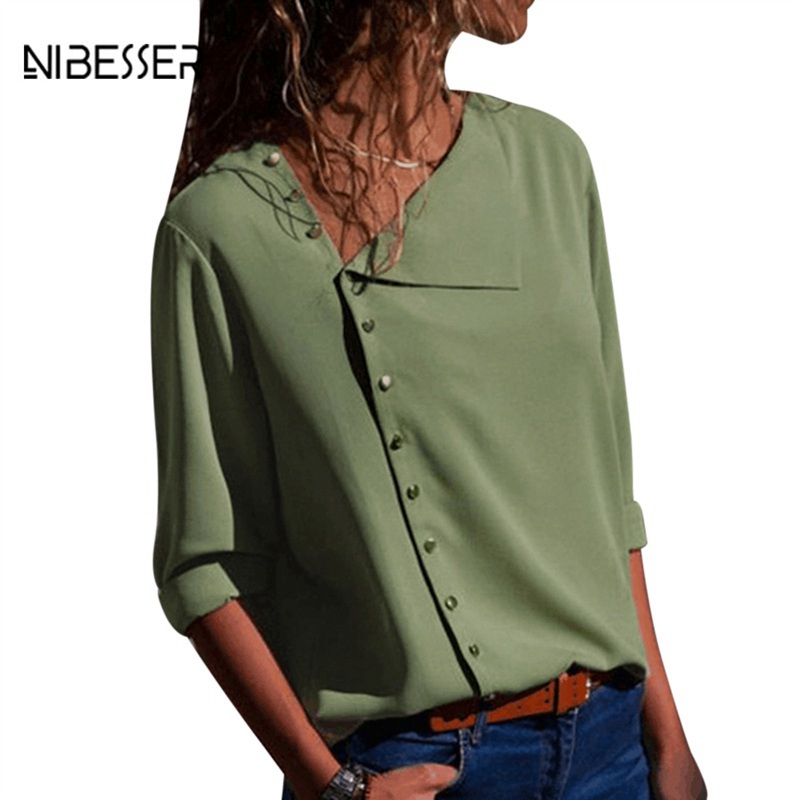 Nibesser Strong Streetwear Summer season Informal Lengthy Sleeve Ladies Shirt Shirts 2018 New Autumn Style Feminine Prime Dropshipping