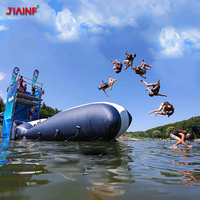 JIAINF 6/8/10*2m Inflatable Water Jumping Catapult Blob PVC Inflatable Water Pillow for Outdoor Fun Sports Personal Customized