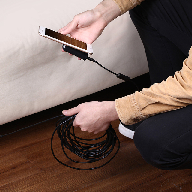 Mini Camera Endoscope HD 1200P IP68 2M Hard Flexible Tube Mirco USB Type-C Borescope Video Inspection for Android Car Endoscope