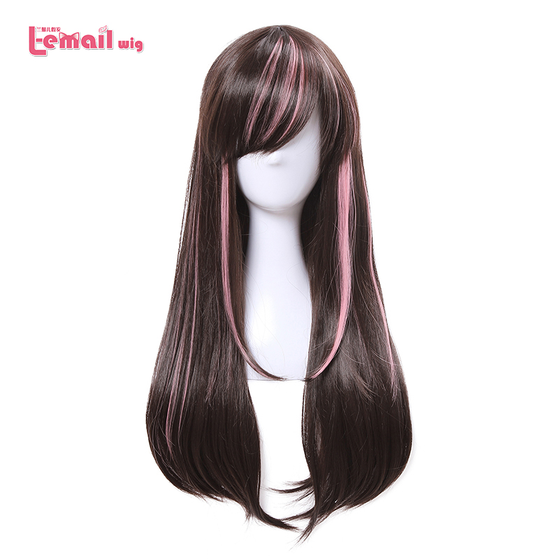 L-email wig New Arrival Virtual Youtuber Cospaly Wigs AI Channel Mixed color Synthetic Hair Peruca Women Cosplay Wig