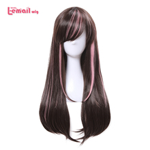 L-email wig New Arrival Virtual Youtuber Cospaly Wigs AI Channel Mixed color Synthetic Hair Peruca Women Cosplay Wig цена