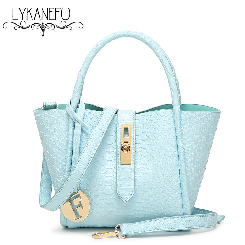 2017 New Alligator PU Leather Womens Shoulder Bags Hobos Top-Handle Handbag Tote Purse Women Bag Ladies Sac a Main Femme Strap inc 5858 new womens blue printed embellished open shoulder blouse top s bhfo
