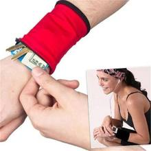 Wrist Wallet Pouch Arm Band Bag For MP3 Key Card Storage Bag Case Wristband Sweatband Coin Purses(China)