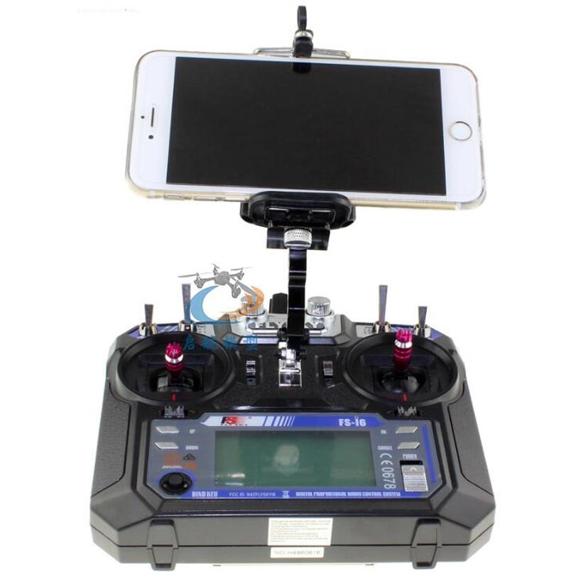 1set RC Flysky FS-i6X Remote Control Aerial Photography FPV Smartphone Tablet Display Monitor Stand Holding Braket Base Mount smartphone