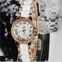 Новых женщин Lady Дамы Браслет часы браслет часы наручные часы моды кварцевые часы горный хрусталь алмаз смотреть Бесплатная доставка