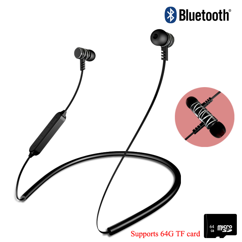Bluetooth Earphone Sports Wireless Headphones Stereo Magnetic Blutooth Headset kulakl k for Phone Xiaomi iPhone Android IOS