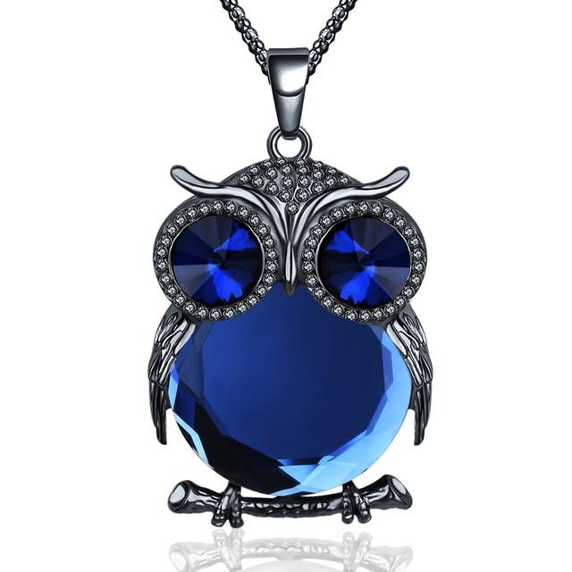 Crystal Owl Rhinestone Pendant
