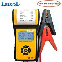 Lancol Micro 300バッテリーテスターと電圧計ツール12vバッテリー容量テスタープリンタ自動車オルタネータプリンタ