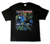 Iron Maiden Final Frontier Tour Album Cover Mens Black T Shirt Printed T Shirt Cotton T