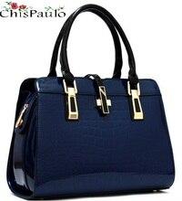 Women s Genuine Leather Handbags Patent Luxury Brand Women Bags 2018 Ladies Crossbody Bags For Women