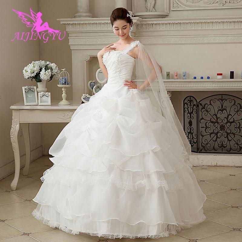 AIJINGYU dresses comunion weding plus size wedding dress WU222