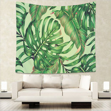 Monstera Tapestry Wall Fabric Mexican Decor Tropical Leaves Bedspread Beach Mat GT9