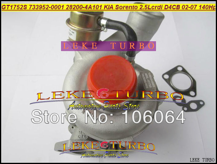 Free Ship GT1752S 733952 733952-5001S 733952 28200-4A101 28201-4A101 Turbo Turbocharger For KIA Sorento 02- D4CB 2.5L CRDI 140HP  цены