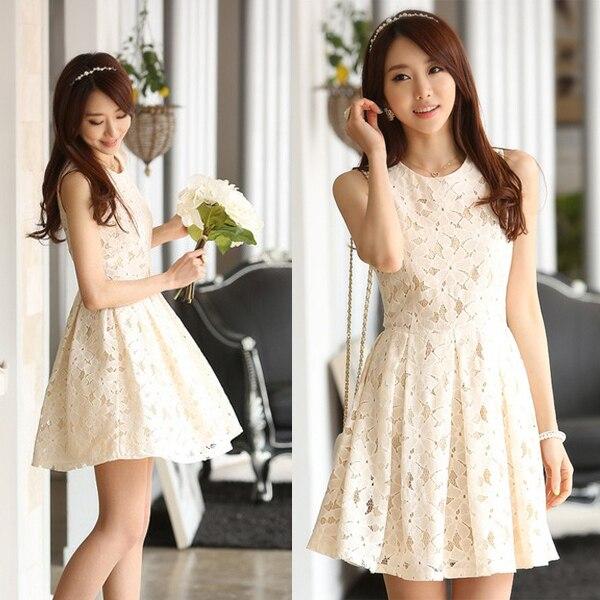 Vestido Branco Womens Summer Dresses 2015 Summer Elegant Lace Dress ...