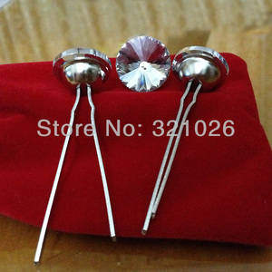 Image 1 - Free shipping 1500PCS/LOT 20MM Satellite Crystal Glass Upholstery Nails(Prongs) / Decoration Tacks/ Upholstery Buttons
