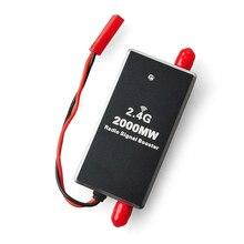 Fpv 2.4 グラム 2 ワット 2000 150mwミニラジオ信号ブースターアンプモジュールdjiファントムrcトランスミッタfpv拡張範囲ドローンアクセサリー
