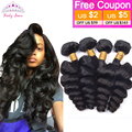 7A Virgin Peruvian Loose Wave Curl 4PCS Unprocessed Peruvian Virgin Hair Loose Wave Rosa Hair Products 100% Human Hair extension