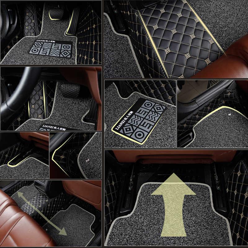 รถสำหรับ Chevrolet ทุกรุ่น Cruze Captiva Sail Spark Aveo Blazer Sonic Epica Car อุปกรณ์เสริมที่กำหนดเองเท้า Pad พรม
