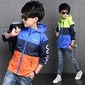 Дети мальчик Жакеты Пальто Дети Активность Одежда Лоскутное Водонепроницаемый Ветрозащитный Мальчики Outwears Куртки для Мальчиков Пальто