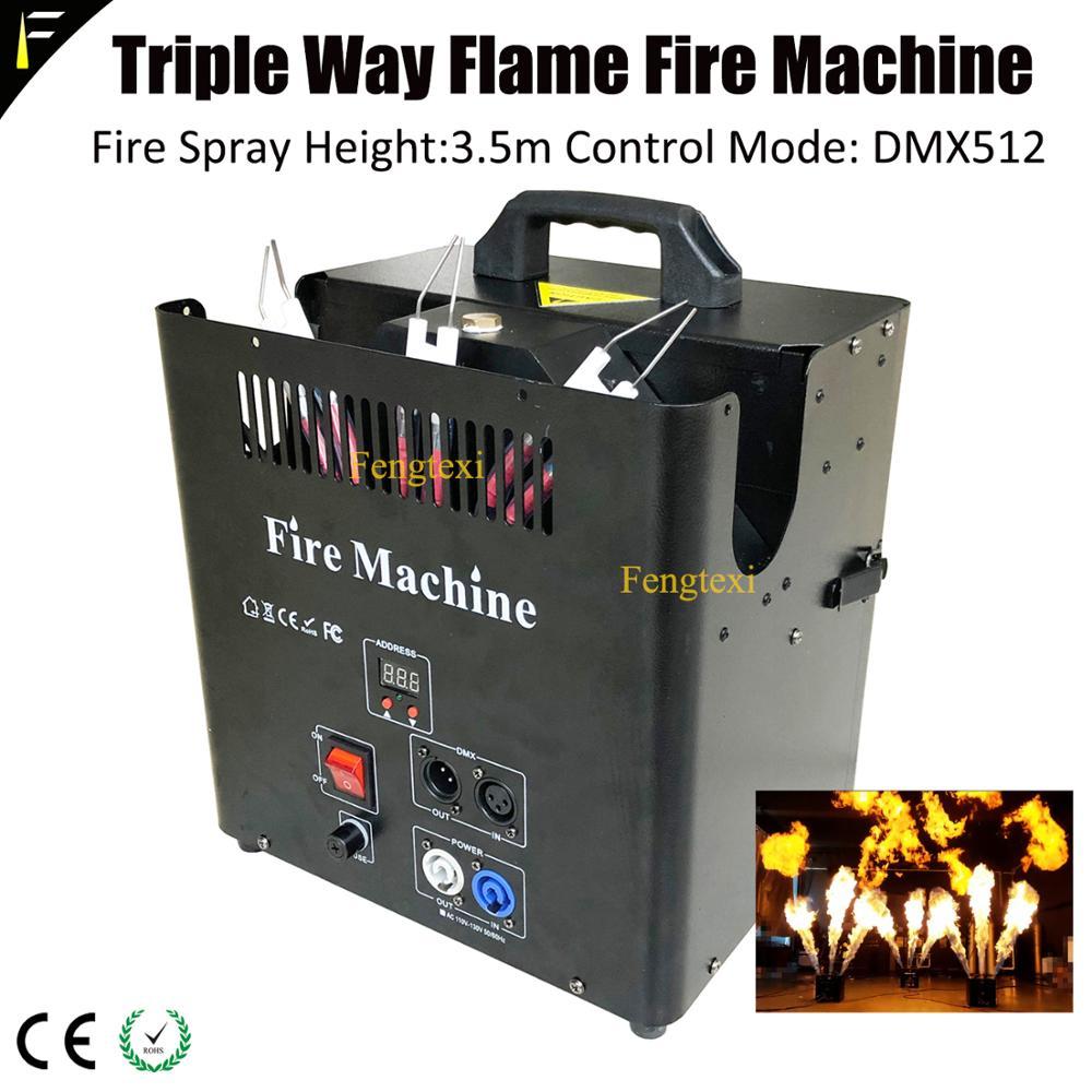 palco dj 3 m fonte de chama de fogo sem fumaca cabeca triplo chama de ignicao