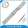 18mm 20mm 22mm Faixa de Relógio de Aço Inoxidável + Liberação Rápida pinos para omega substituição alça de pulso pulseira cinto de ouro negro prata
