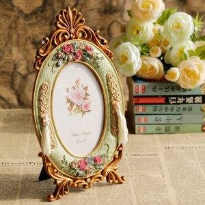 Vintage Europa Foto Rahmen Rose Harz Foto Rahmen Bilderrahmen Tisch ElimElim