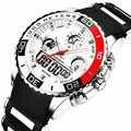 แฟชั่นแบรนด์หรูผู้ชายกีฬานาฬิกาทหารนาฬิกาควอตซ์ยาง LED Analog นาฬิกาผู้ชายนาฬิกากันน้ำ reloj hombre 2019