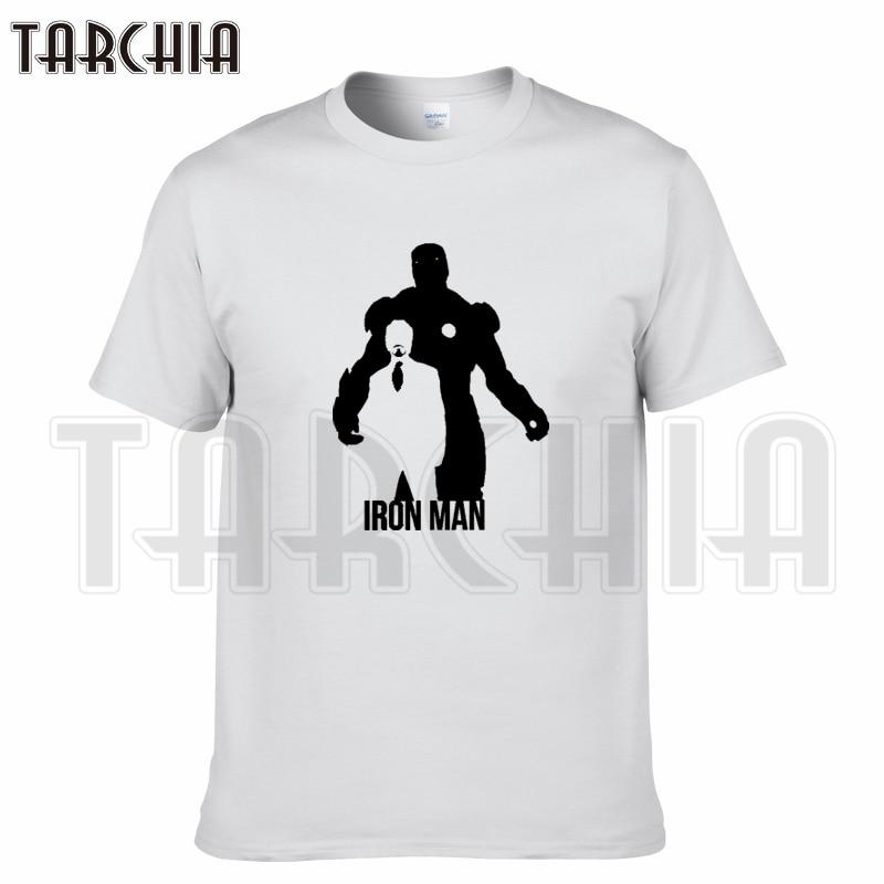 TARCHIA 2016 summer brand t-shirt cotton iron Man super hero tops tees men short sleeve boy casual homme tshirt t plus fashion