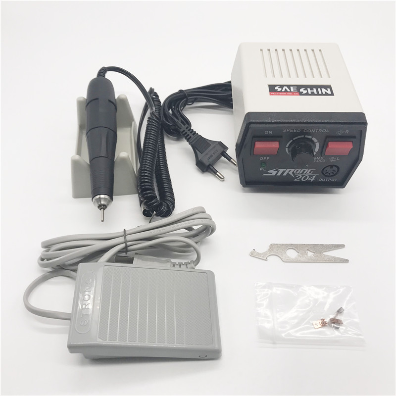 Dentist Lab Micromotor Machine Strong 204+102l Handpieces Jewelry Tools 220V For Dental