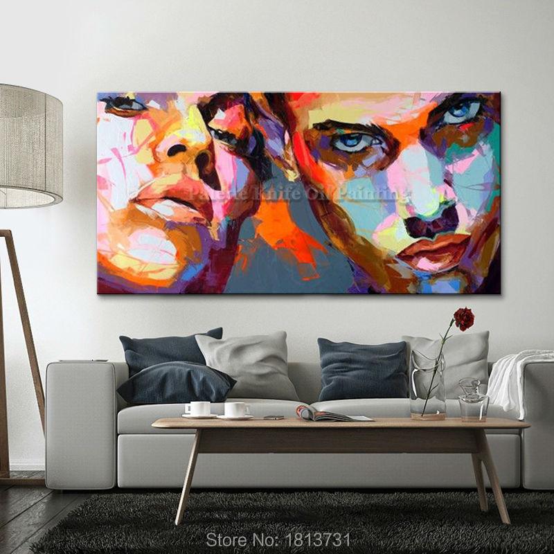 Portret szpachlą szpachlą Malowanie szpachlą Obraz olejny do - Wystrój domu - Zdjęcie 2