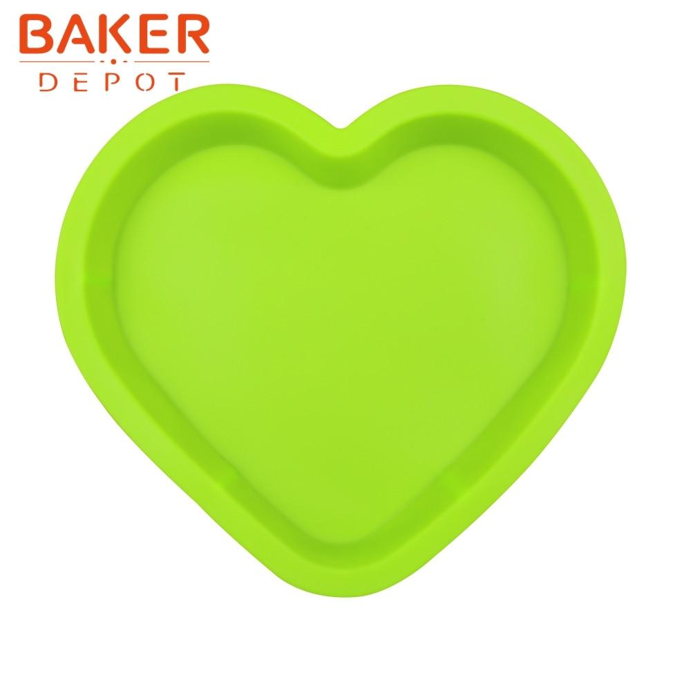큰 사랑의 심장 실리콘 금형 달콤한 사랑의 마음 피자 베이킹 금형 빵 과자 금형 28CM 케이크 장식 도구
