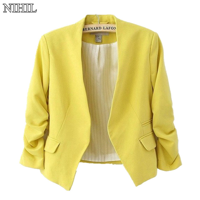 Women Blazers And Jackets 2018 Spring New Fashion Candy Color Slim